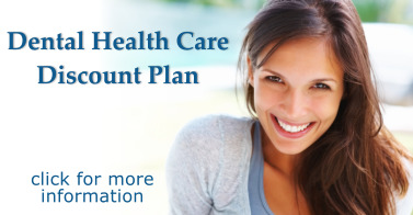 Woman smiling, health care discount promotion
